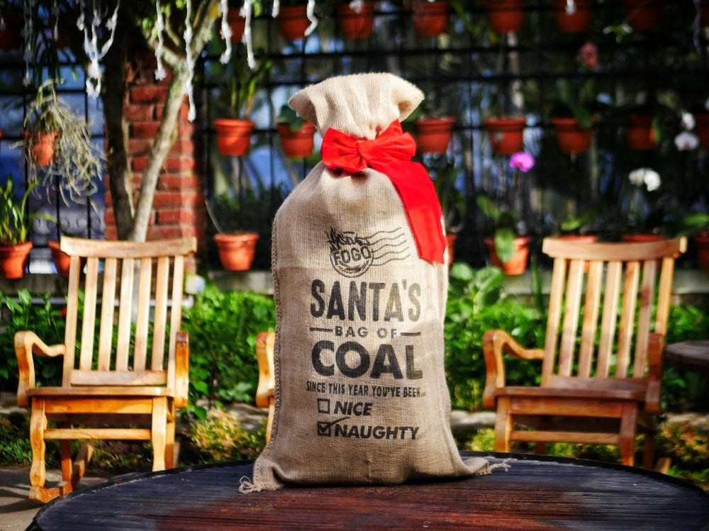 "Santa ""Bag of Coal"" Burlap Gift Packaging"