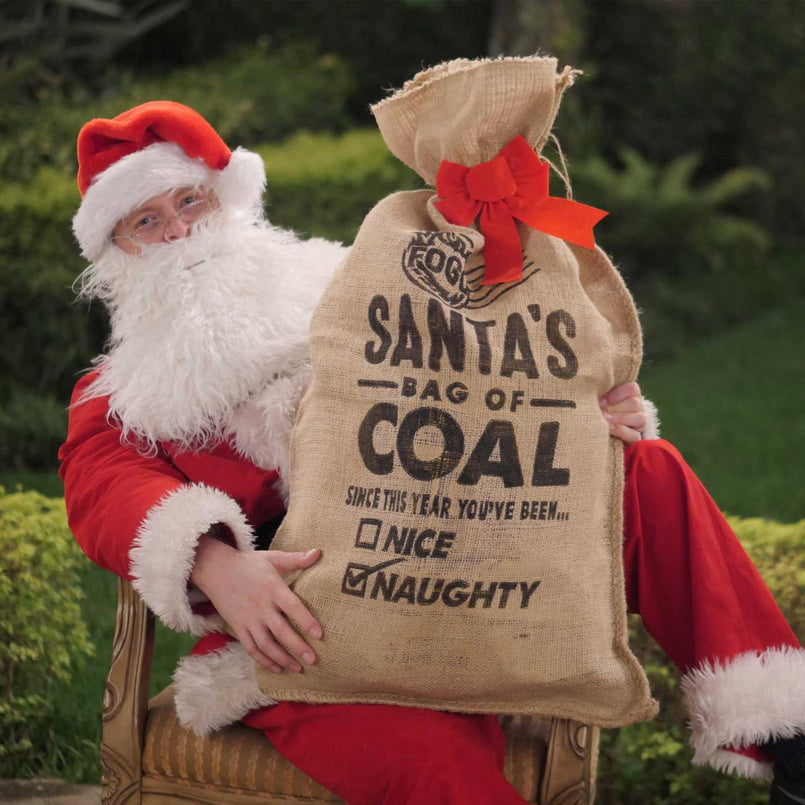 Santa Bag of Coal with Premium Black Bag