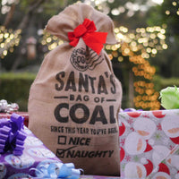 Santa Bag of Coal with Super Premium Gold Bag