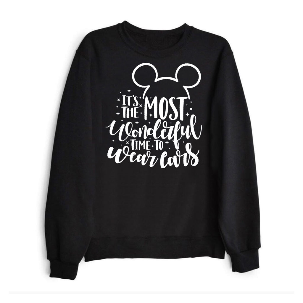 The most wonderful time to wear ears Crewneck sweatshirt