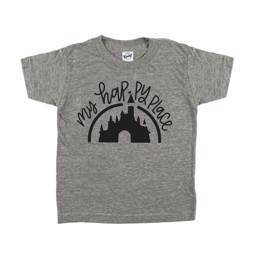Happy Place Grey Tee