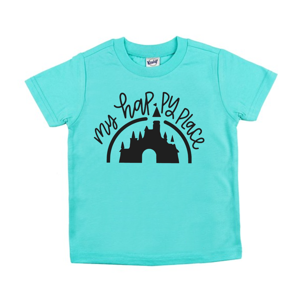 Happy Place Caribbean Blue Tee