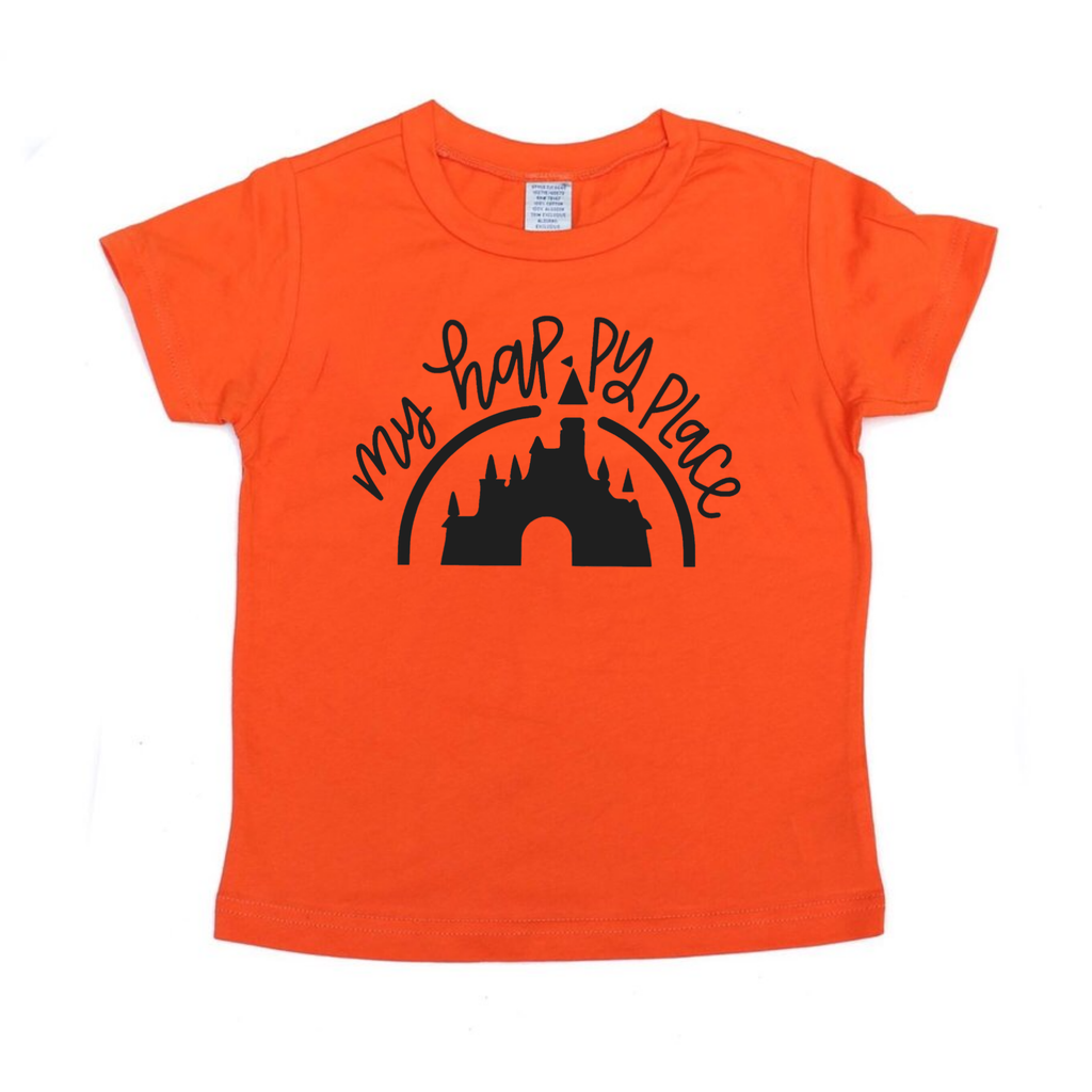 Happy Place Orange Tee