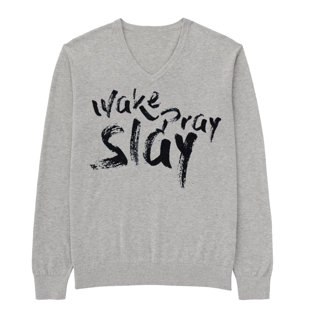 Wake Pray Slay lightweight vneck sweatshirt