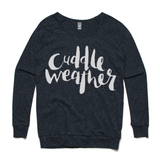 Cuddle weather navy sweatshirt