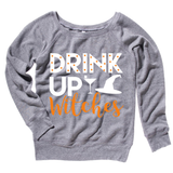 Drink Up Witches Grey Sweatshirt