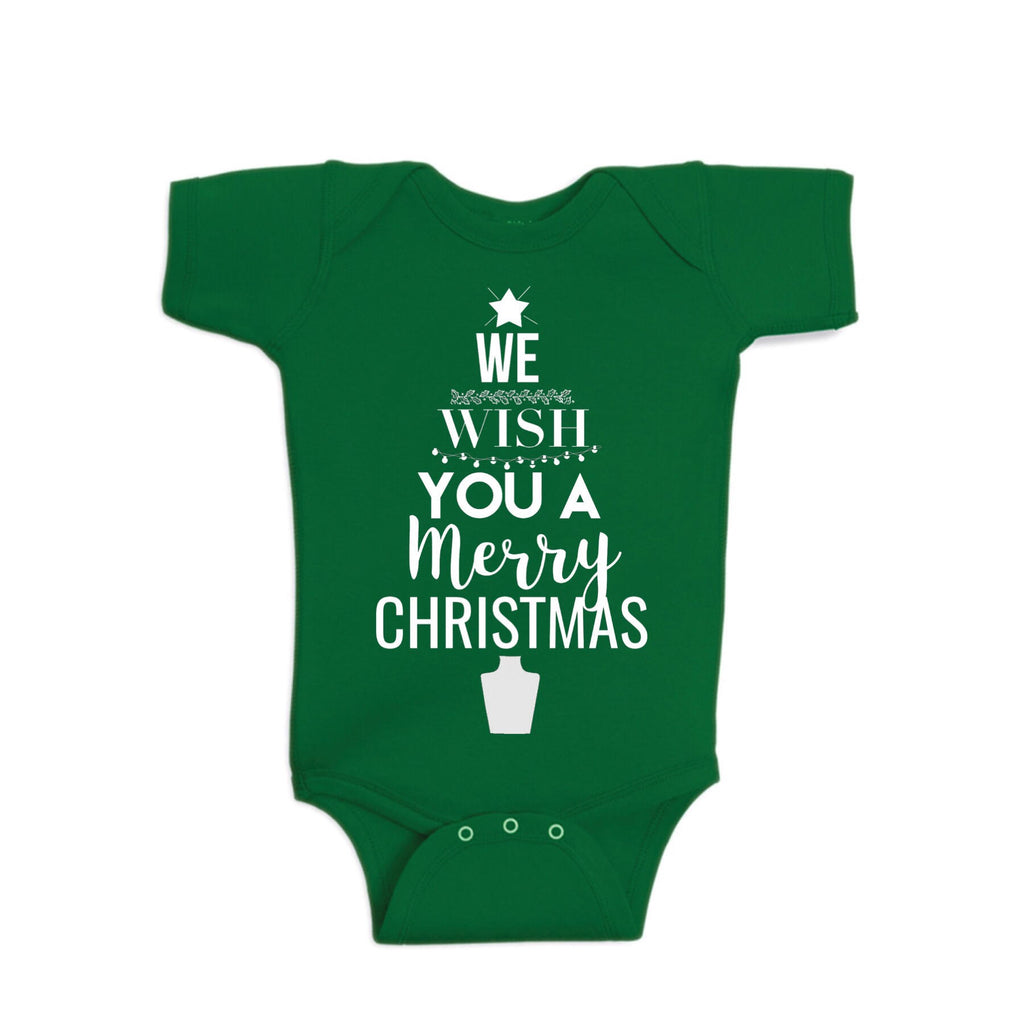 We Wish You A Merry Christmas Onesie