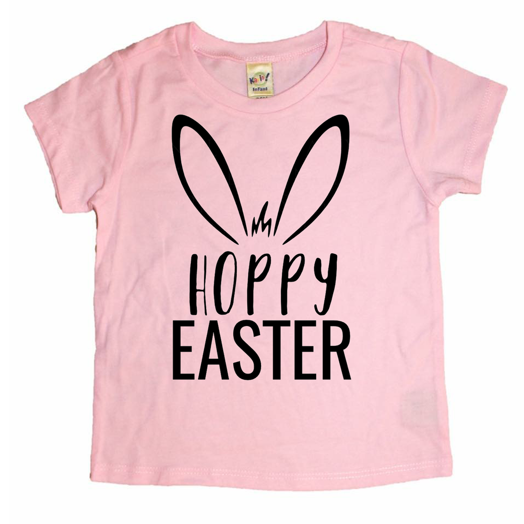 Hoppy Easter Light Pink Tee