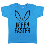Hoppy Easter Island Blue Tee