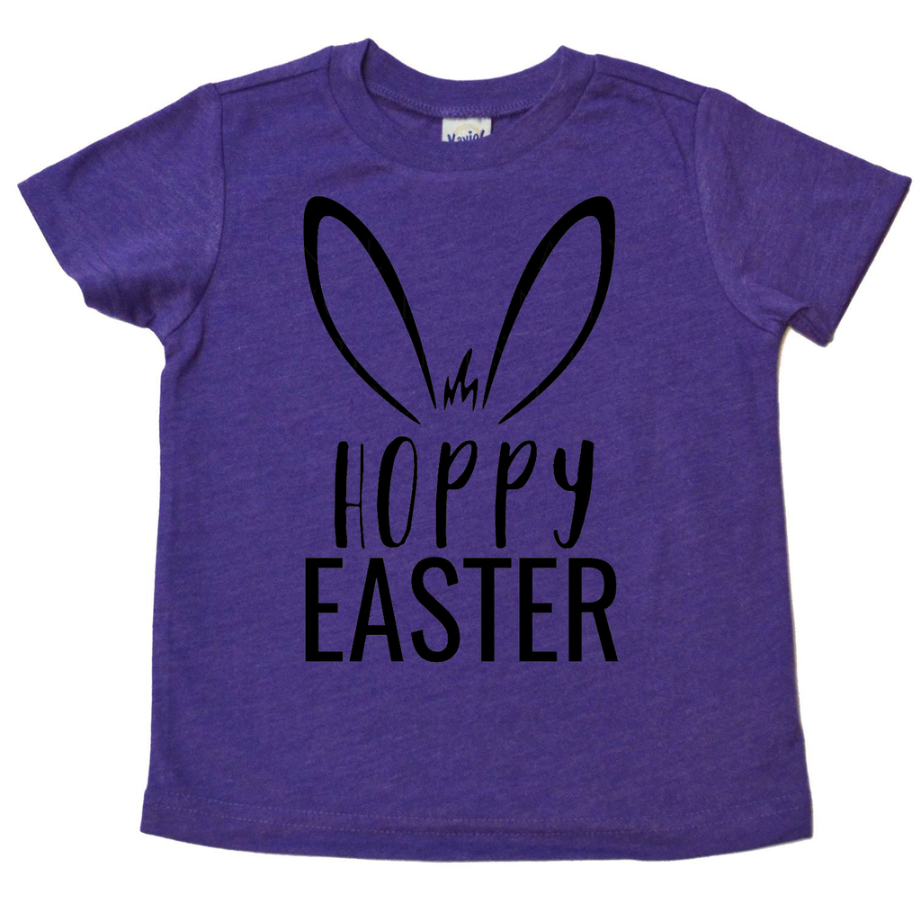 Hoppy Easter Purple Tee