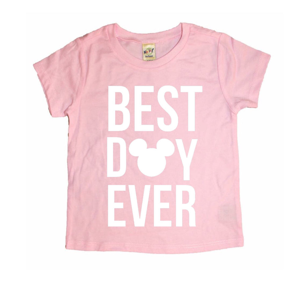 Best Day Ever Light Pink Tee