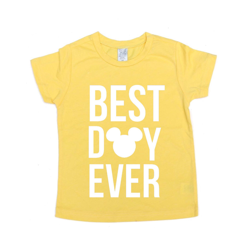 Best Day Ever Yellow Tee