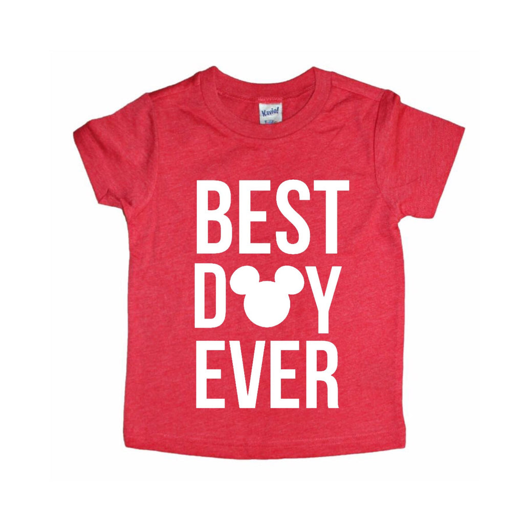 Best Day Ever Red Tee