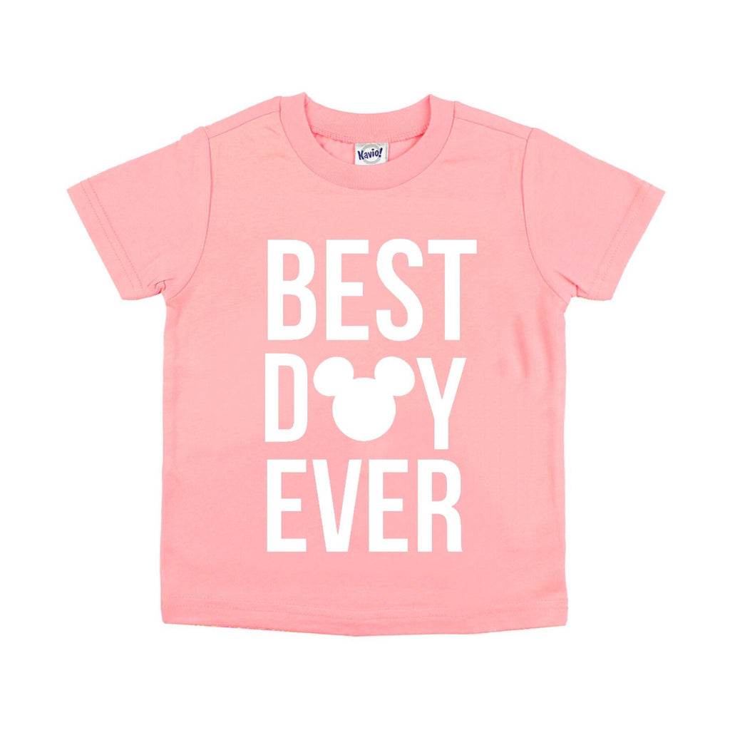 Best Day Ever Flamingo Pink Tee