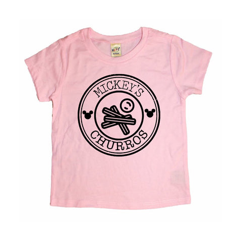 Mickey's Churro's Flamingo Pink Tee