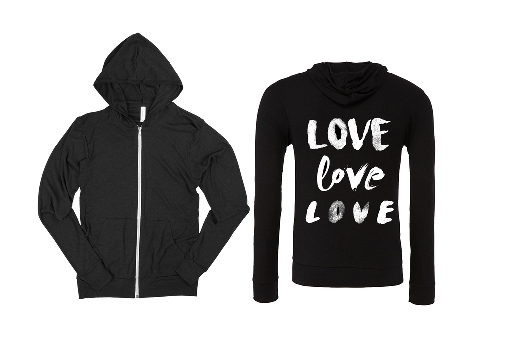 Love Love Love Zip Up Sweatshirt
