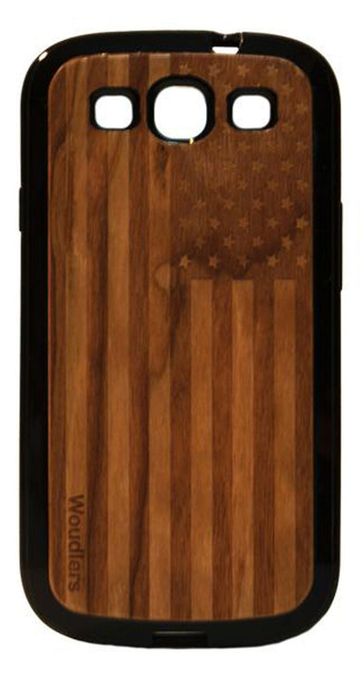 American Flag Wooden Galaxy s3 Case - Galaxy s3