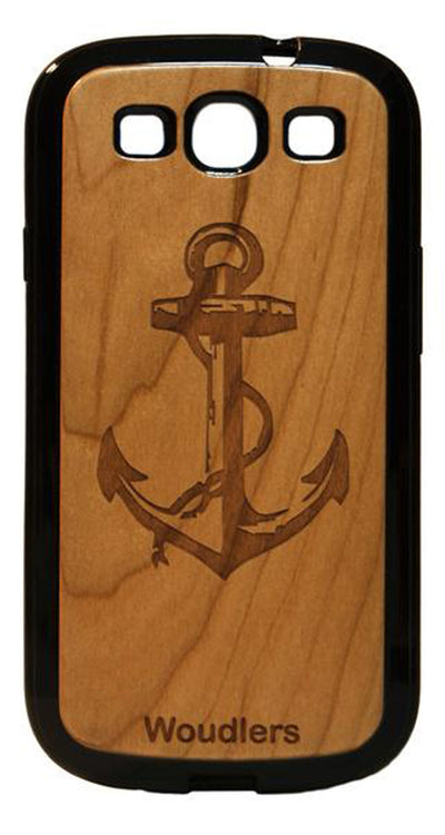 Anchor Wooden Galaxy s3 Case - Galaxy s3