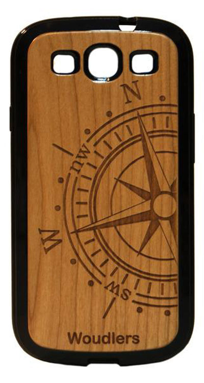 Compass Wooden Galaxy s3 Case - Galaxy s3