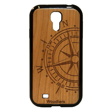 Compass Wooden Galaxy s4 Case - Galaxy s4