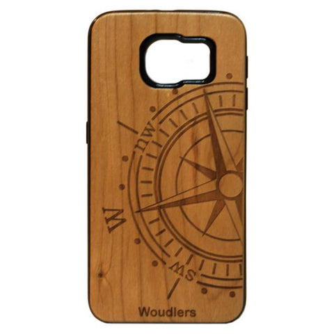 Compass Wooden Galaxy s6 Case - Galaxy s6