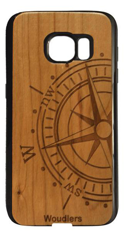Compass Wooden Galaxy s7 Case - Galaxy s7