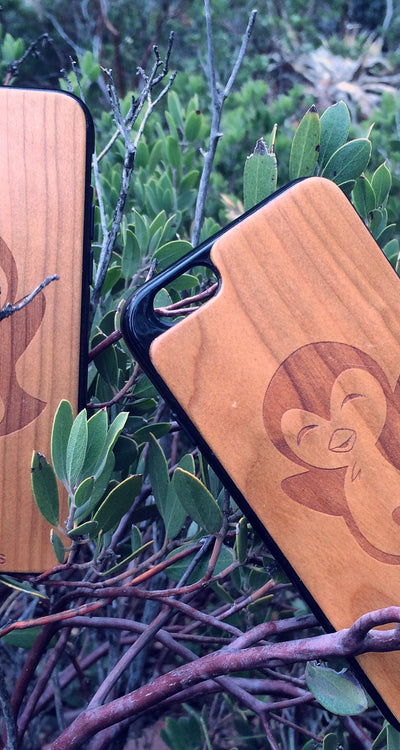 Penguin Wooden Phone Case