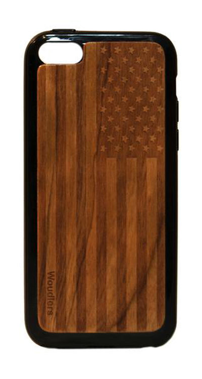 American Flag Wooden iPhone 5c Case - iPhone 5c
