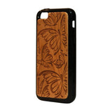 Butterfly Pattern Wooden iPhone 5c Case - iPhone 5c