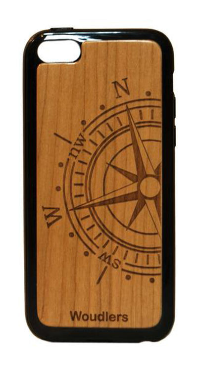 Compass Wooden iPhone 5c Case - iPhone 5c