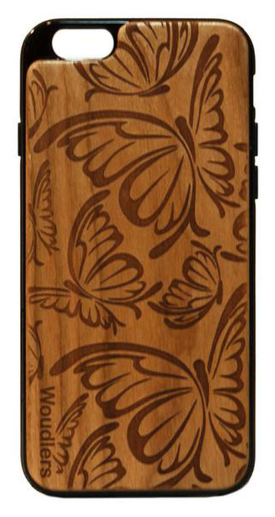 Butterfly Pattern Wooden iPhone 6/6s Plus Case - iPhone 6/6s Plus