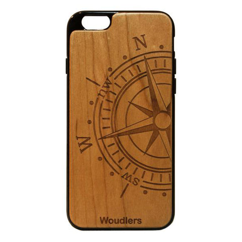 Compass Wooden iPhone 6/6s Plus Case - iPhone 6/6s Plus