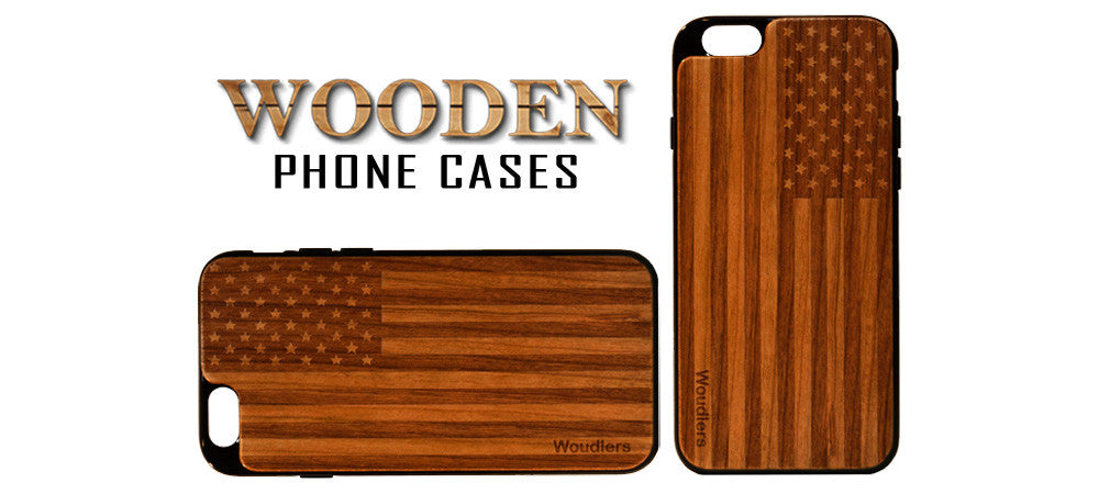 American flag wooden phone case