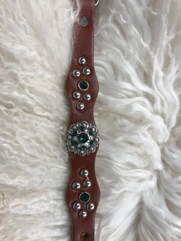 Extra Small dog collar-emerald
