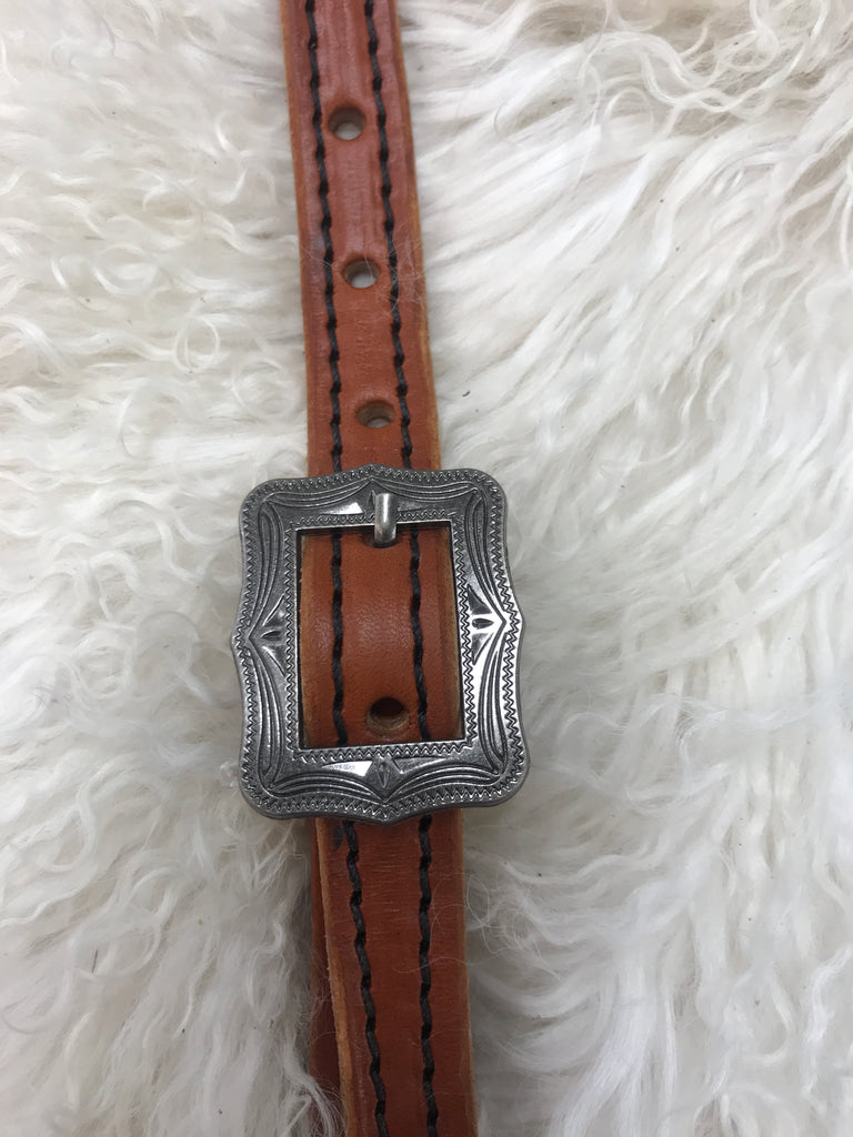 Wither strap chestnut with black with square cart buckle