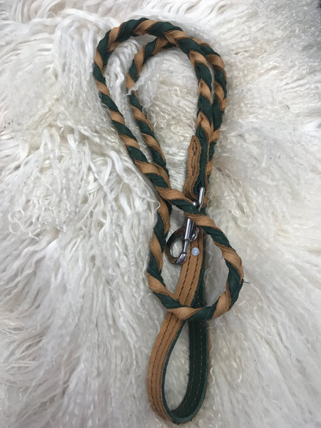 Super soft leather dog leash
