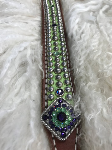 Youth belt lime and purple 26-30 inches