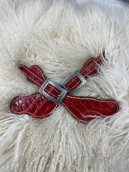 red gator on medium leather