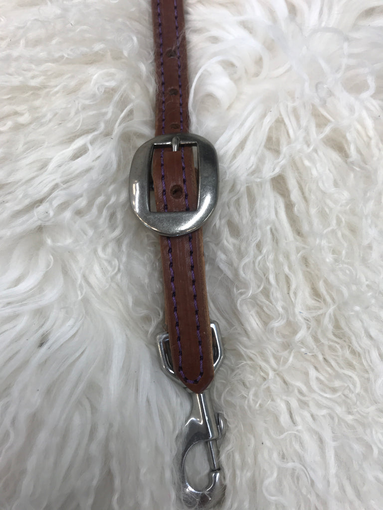 Wither strap medium with purple and oval cart buckle