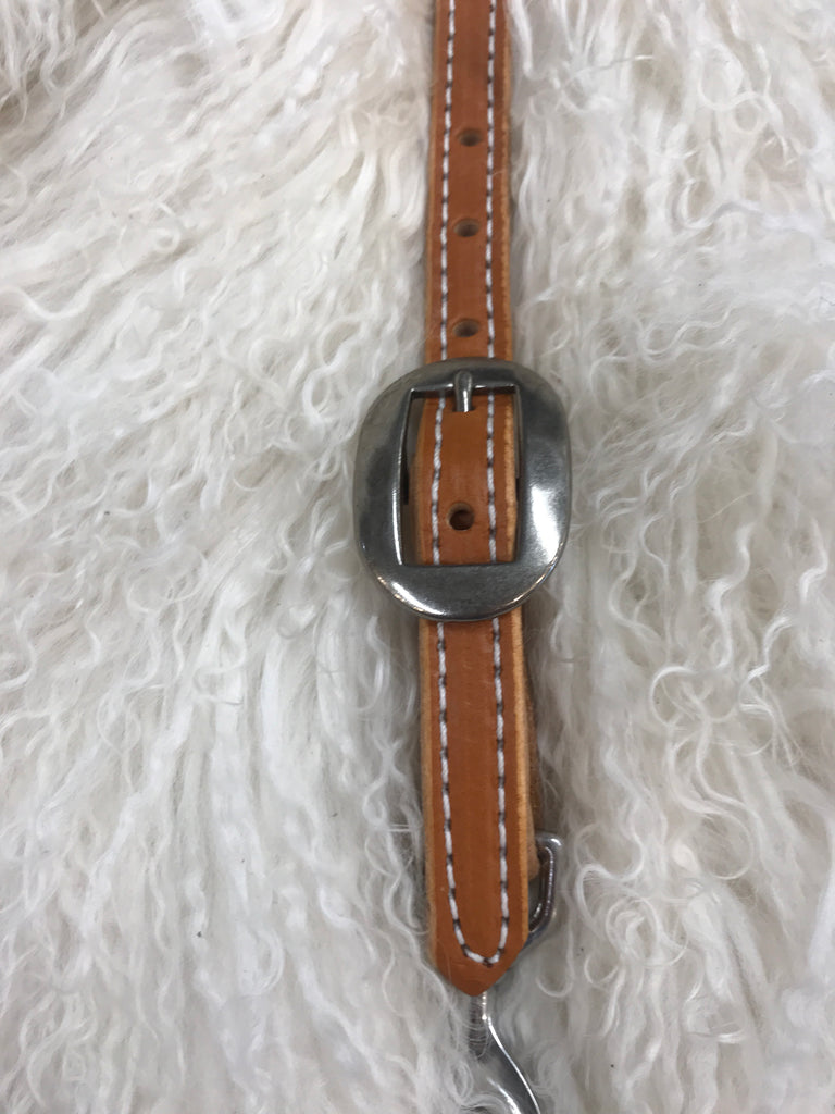 Wither strap tan with oval cart buckle