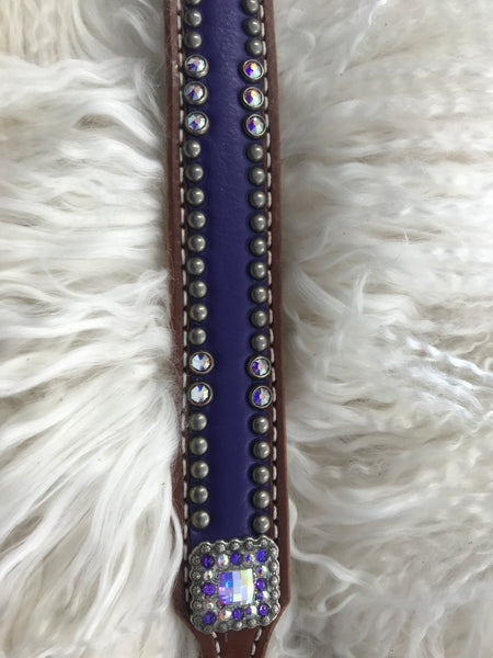 Large dog collar- 20-24 inches purple