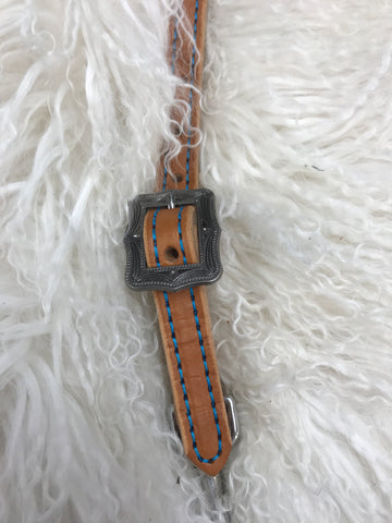 Wither strap tan with turquoise and antique cartbuckle