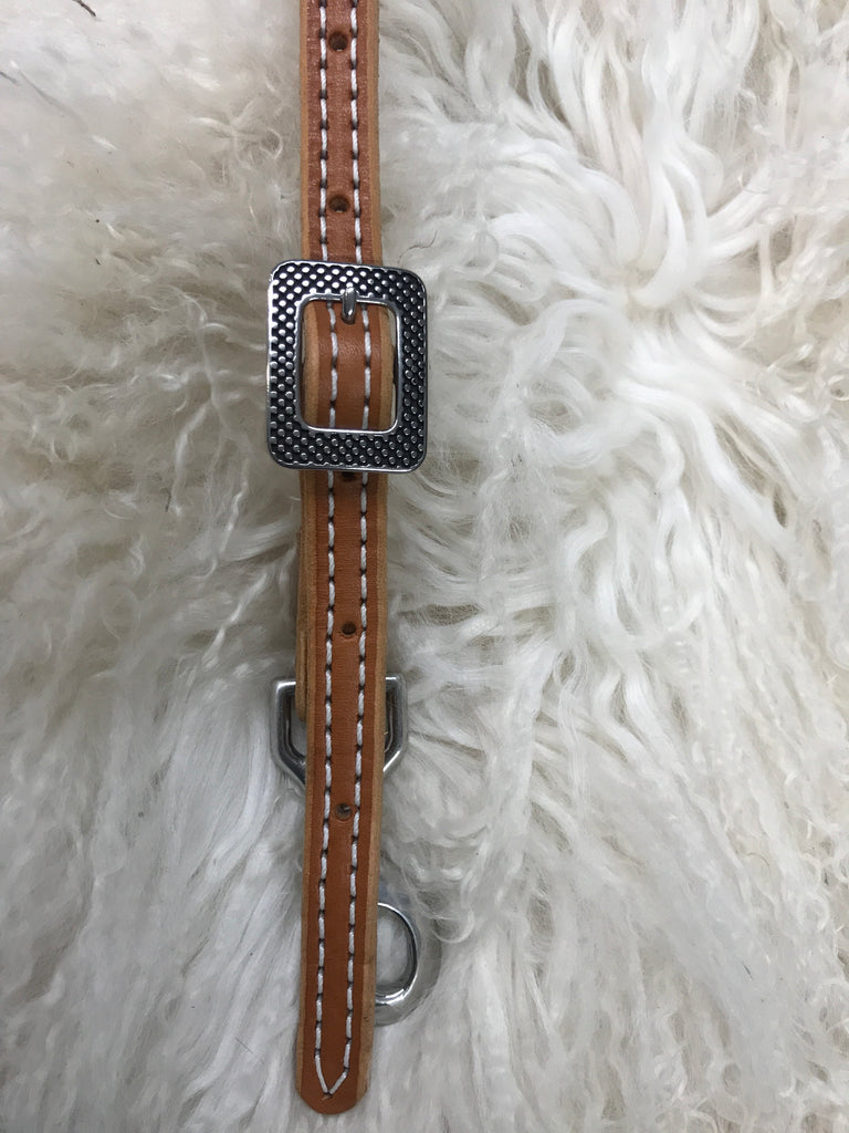 Wither strap thin tan with polka dot buckle