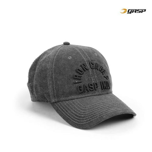 GASP Throwback Cap, Washed Black