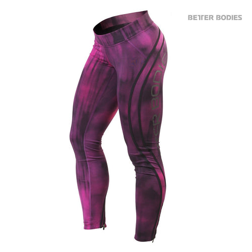 Better Bodies Grunge Tights, Hot Pink