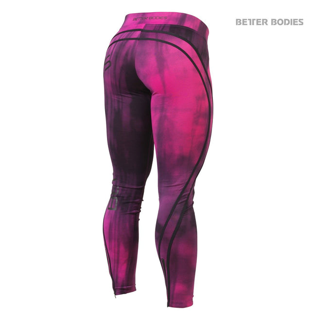 Better Bodies Grunge Tights, Hot Pink Back