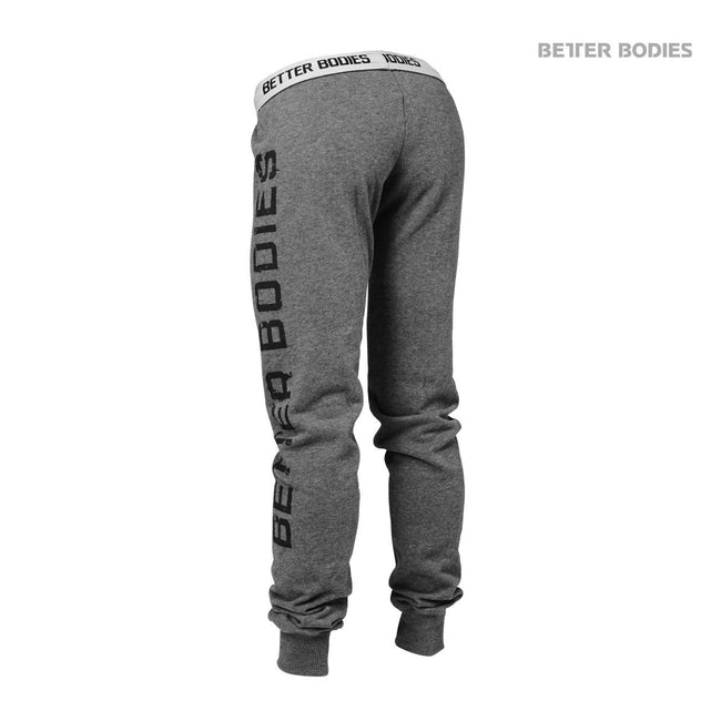 Better Bodies Slim Sweatpant Anthracite Back