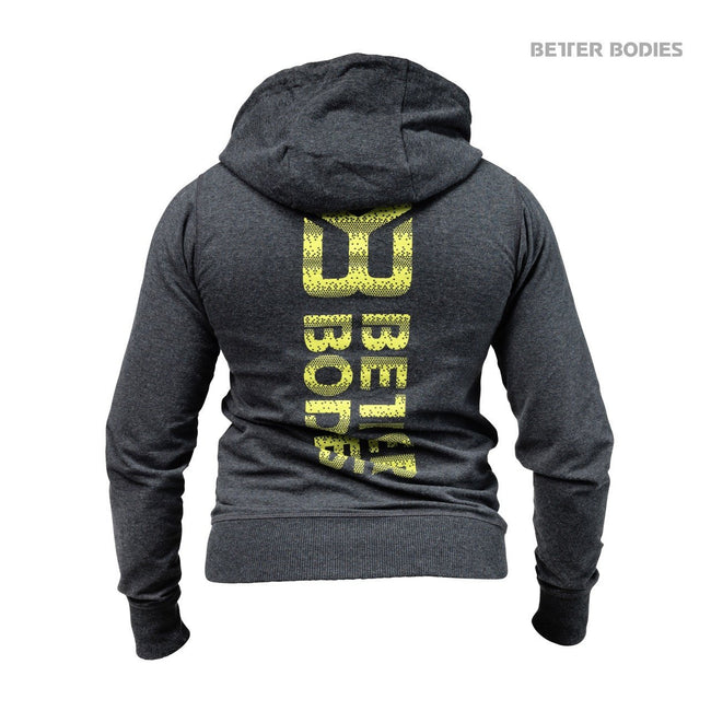 Better Bodies Women's Soft Logo Hoodie Anthracite Back