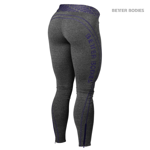 Better Bodies Shaped Logo Tights Purple Back