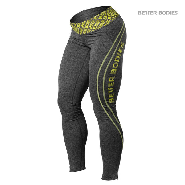 Better Bodies Shaped Logo Tights Lime